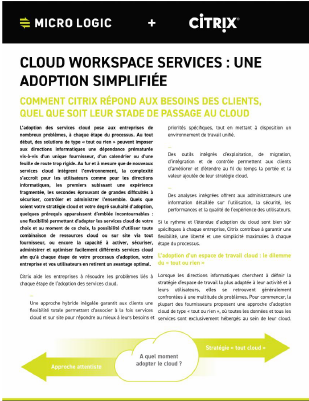 Cloud Workspace Services – Une adoption simplifiée